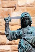 Statue of Judith and Holofernes near Palazzo Vecchio. Florence. Italy poster