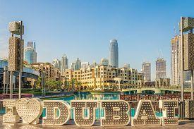 Dubai,uae - February 2,2020 - In The Streets Of Dubai. Dubai Is The Most Populous City In The United