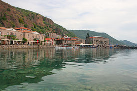 Assos Ancient Harbour in Canakkale,Turkey