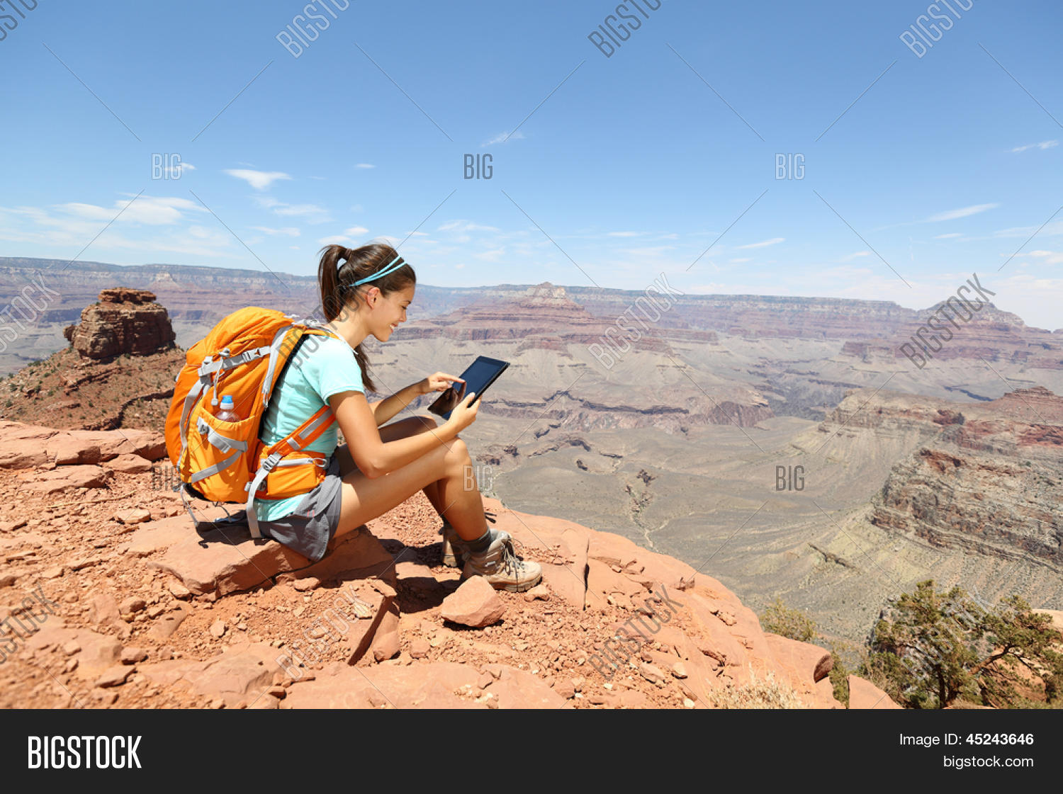 Tablet Computer Woman Image Photo Free Trial Bigstock