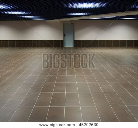 Empty hall, wide angle view