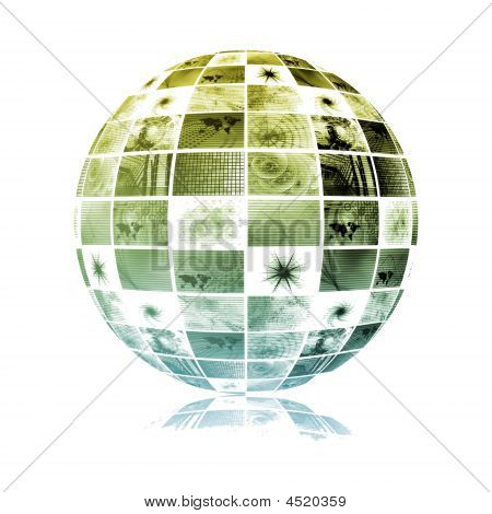 poster of Global Media Technology World Sphere Clip Art