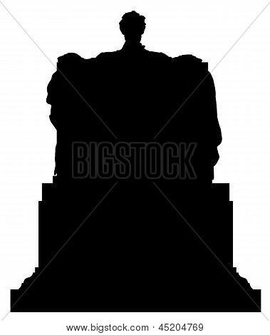 Abraham Lincoln Memorial Statue Silhouette