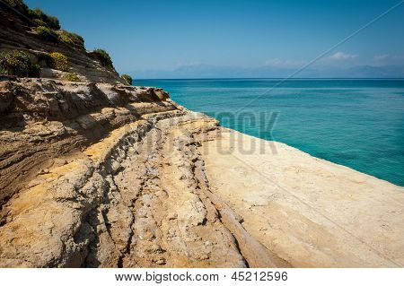 One Of Many Shore Clifs On The Beach Of Sidari, Corfu (kerkyra), Greece - Canal D'amour Beach