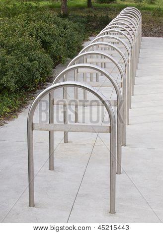 Bike Rack, silver metal