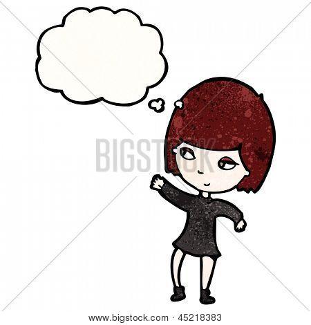 cartoon goth girl