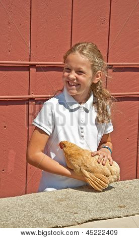Mt Vernon, Wa - August 13 - 4H Child Chicken Judging At County Fair