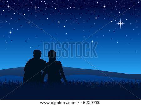Enjoying The Romantic Night