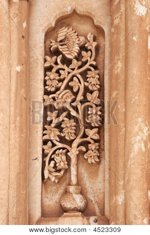 Floral Carving On Ishak Pasha Palace, Turkey