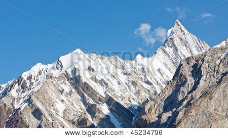 Jagged Mountain Ridge In The Karakorum Range