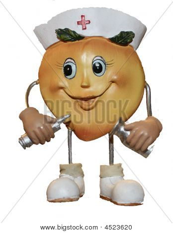 Figurine Of Nurse Peach   CLIPART