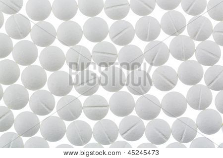 white tablets, symbolic photo for medicine, remedies and painkillers