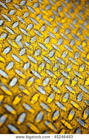 Yellow Diamond Plate Metal