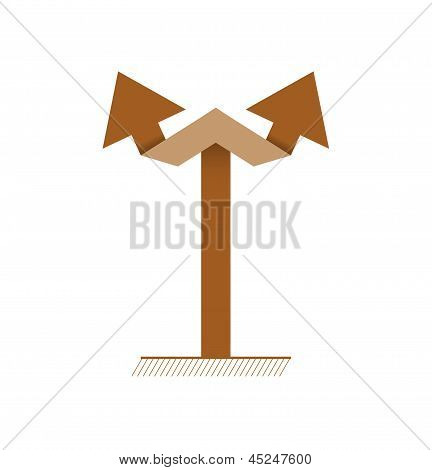 brown double arrow