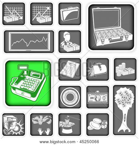 Money Squared Icons