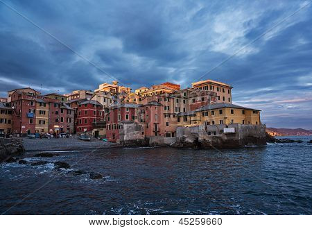 Boccadasse, the last sun ray