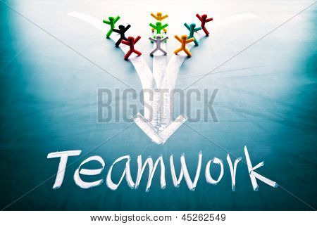 Teamwork Concept, Group Of People With The Same Goal