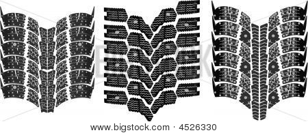 Tire Print High Resolution Vector