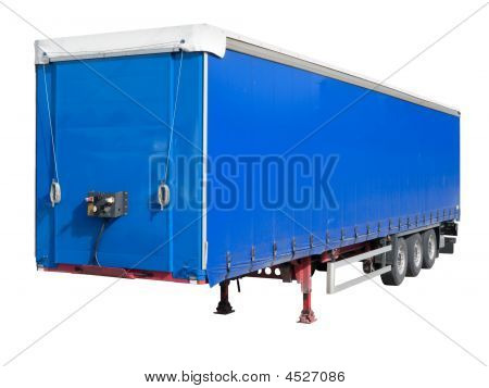 Disengaged Trailer From A Semi Truck