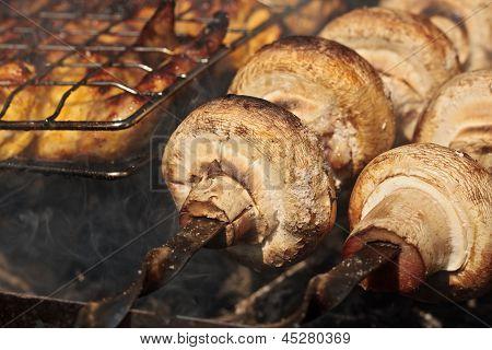 Mushroom barbeque