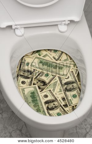 Toilet, Dollars, One