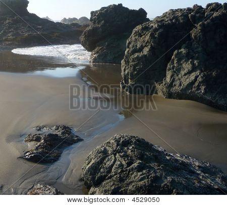 Small Riptide On Rocky Beach
