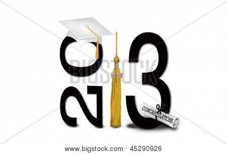 gold tassel for 2013 graduation