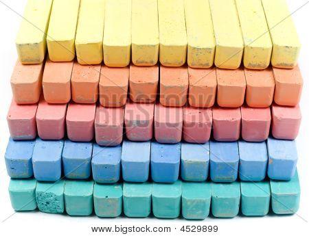 Five Colors Childrens Chalk