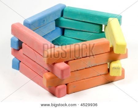 Pentagon From Childrens Colored Chalk