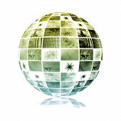 Global Media Technology World Sphere Clip Art poster