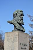Statue of Friedrich Engels in St.Petersburg Russia poster