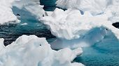 Interesting ice formations off the Antarctic peninsula. poster