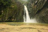 Salto Jimenoa Uno waterfall Jarabacoa Dominican Republic poster