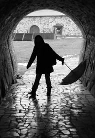 Dance with the umbrella