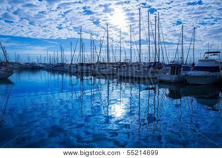 Denia Marina Port in alicante Province of Mediterranean Spain