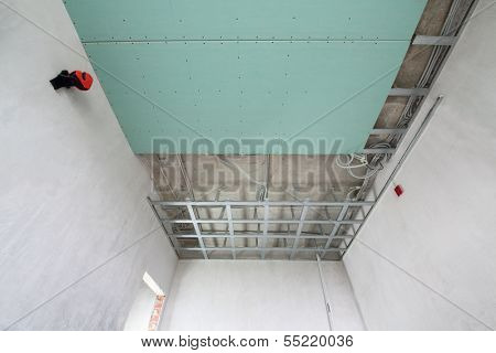 Bottom of the frame mounted ceiling