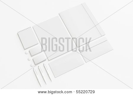 Blank Stationery / Corporate Id Set Isolated On White