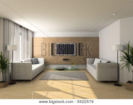 Modern Interior Of Living-room