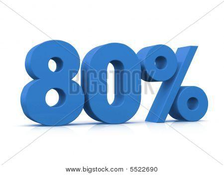 Percentage, 80%