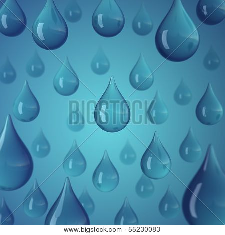 Rain Water Drop Blue