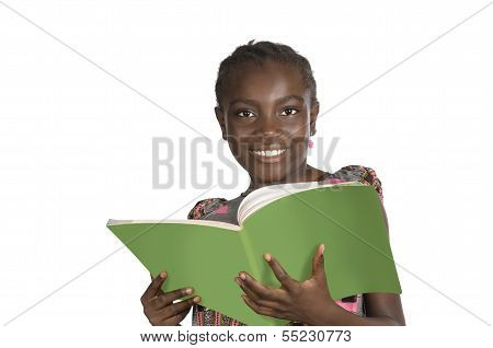 African Girl With Text Book