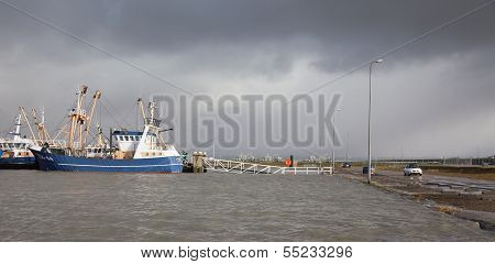 Extreme High Tide In The Netherlands