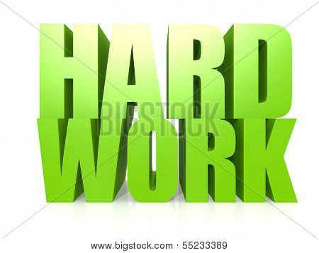 Hard work word