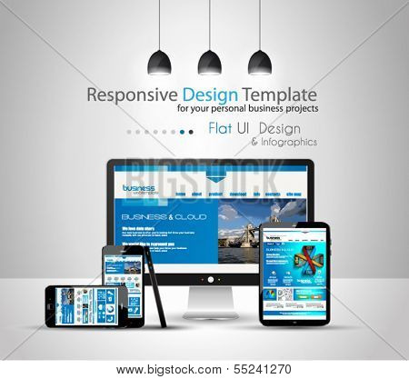 Modern devices mockups for your business projects. web templates included.