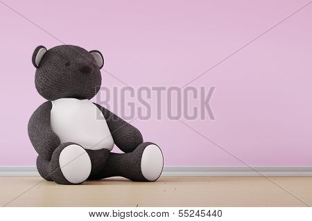 Teddy Bear On Wall