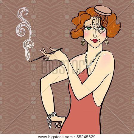 Redhead flapper girl