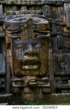 Mask Temple, Lamanai Belize