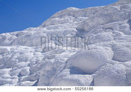 Calcium Travertine Terraces In Pamukkale, Turkey.
