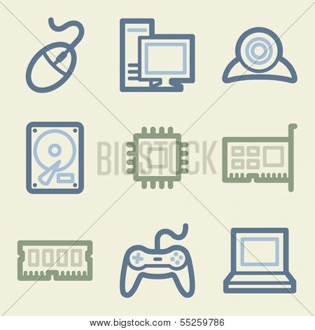 Computer web icons, money color set