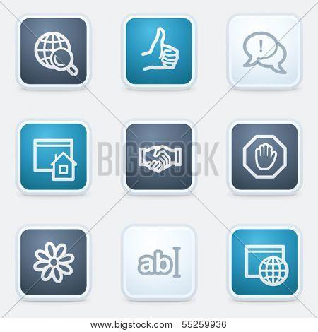 Internet web icon set 1, square buttons